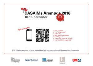 Dine forberedelser som deltager i DASAIMs Årsmøde 2016!