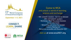 World Congress of Anaesthesiologists 2021 – Virtual
