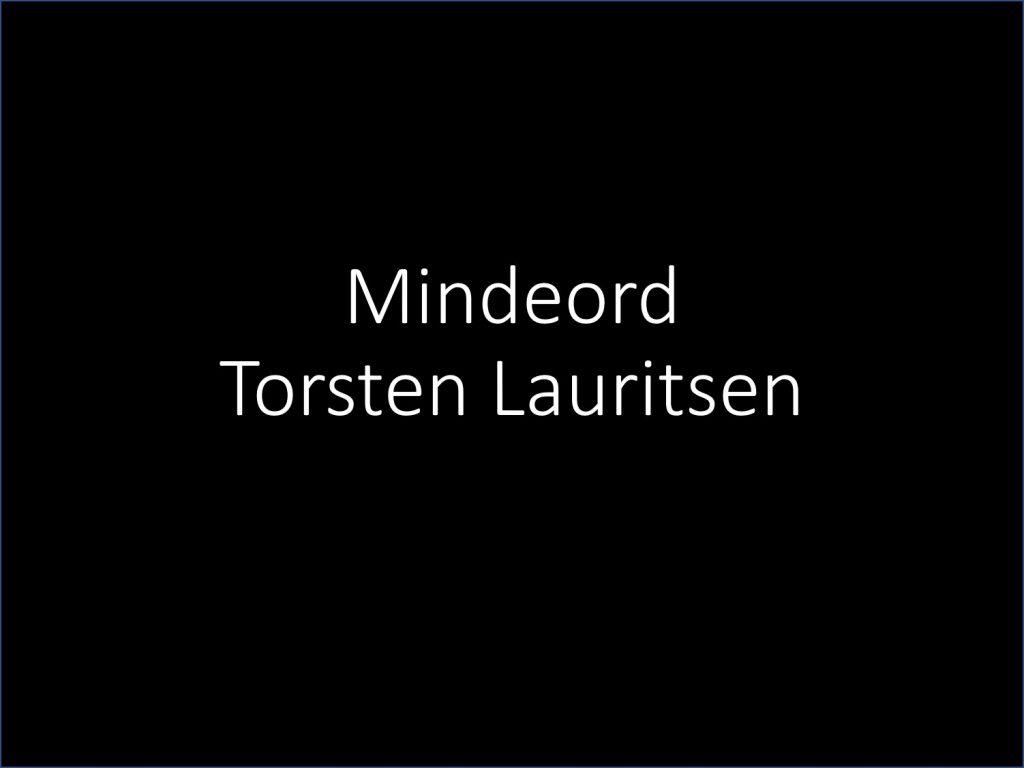 mindeord Torsten Lauritsen