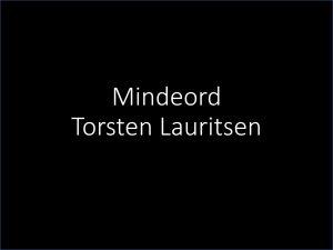 Mindeord over Torsten Lauritsen